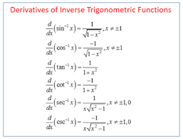 Integrals Of Inverse Trigonometric Functions Video