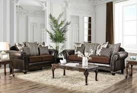 brown faux leather sofa living room