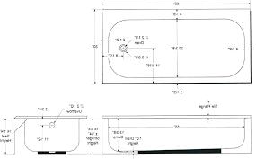 average bathtub size standard sizes gorgeous cm image of dimensions drain b