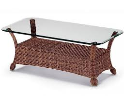 spacious 15 collection of rattan glass top coffee table