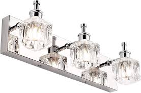 Globe Vanity Light Presde Vanity Lights Bathroom Fixture Over Mirror 3 Lights Led Modern Chrome Fixtures Cryatal Glass Globe