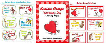 Free Printable Curious George Valentines Coloring Pages More