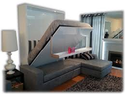 Wondrous Wall Bed using Murphy Bed Kits Over Gray Sectional L sofa plus  Awesome Pattern Rug