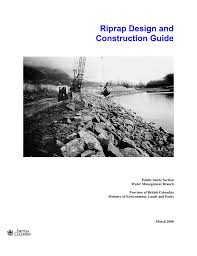 Design Of Riprap Revetment Riprap Design And Construction Guide