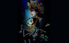 Lord Radhe with Krishna in Black ...
