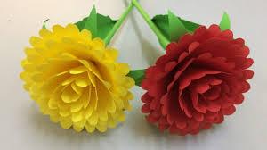 Paper Flower Craft Ideas How To Make Beautiful Paper Stick Flower Diy Hand Craft