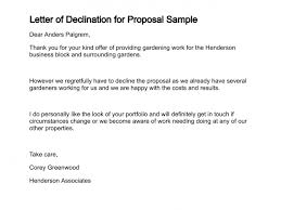 Rejecting An Offer Letter Letter Of Declination