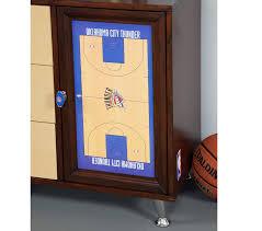 Okc Thunder Bedroom Decor Dreamfurniturecom Nba Basketball Oklahoma Thunder Bedroom In A Box