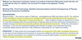 the email thread included a fda roundtable proposal written by coca cola