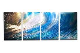 water wall art metal decor abstract aluminum contemporary modern sculpture hanging zen textured nature wave 1 on water wall art lumberland with water wall art metal decor abstract aluminum contemporary modern