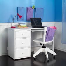 Furniture: Luxury Kids Modern White Computer Desk And Chair Set With Hutch  And File Storage