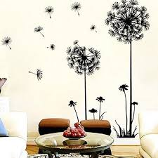 beautiful wall design ideas coromose creative dandelion removable mural pvc  on creative images wall art with 45 creative wall design ideas great inspire