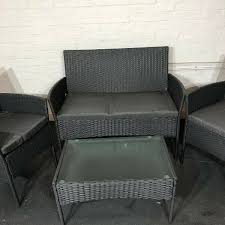 rattan garden furniture sofa for