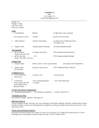 Beginner Acting Resume Beginner Acting Resume Template Examples Resumes Sample For Best 23