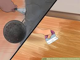 image led remove adhesive on hardwood floor step 2
