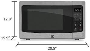 kenmore 7212 countertop microwave measured