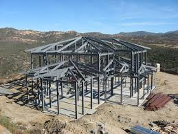 Steel Framed Houses Modern Design Steel Structure Factory Building For Picture On