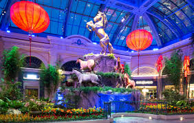 bellagio s conservatory botanical gardens invites guests to celebrate the year of the horse during chinese new year with a festive sanctuary boasting rich