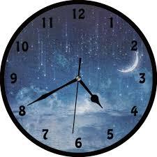 Beautiful Clock Designs Amazon Com Bcwaygod Blue Sky Beautiful Night Wall Clock