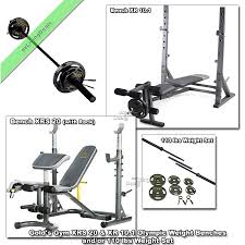 Details About Gold Gym Weight Bench Xr 10 1 Xrs 20 Olympic Fid Press Lifting Or 110lb Weights