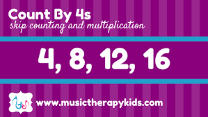 Skip Counting Series Count By 4s Music Therapy Kids