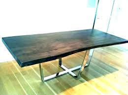 glass dining table base ideas build your own for pedestal top unique diy round live edge table with steel base lemon thistle room and board dining diy