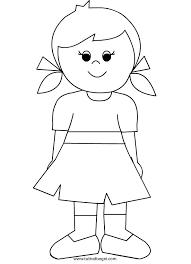 Bambina Con Vestito Da Colorare Tuttodisegnicom