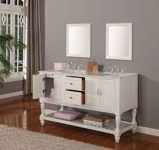 Double Vanity Cabinets Bathroom J International 60 White Mission Turnleg Double Vanity