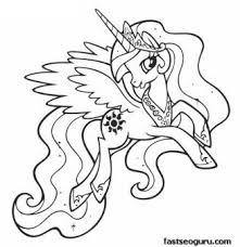 In coloringcrew.com find hundreds of coloring pages of my little pony and online coloring pages for free. Printable My Little Pony Friendship Is Magic Princess Celestia Coloring Pages Printable C My Little Pony Coloring Unicorn Coloring Pages Horse Coloring Pages