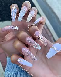 Pin by Maribel Pratt on ❤ и α ι ℓ ѕ ❤   Swag nails, Nails design with  rhinestones, Bling nails
