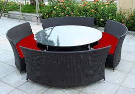 elegant round wicker patio dining table from round table outdoor furniture round teak outdoor dining