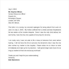 Sample Letter For Absence From School Sample Professional Apology Letter In My Absence Leave