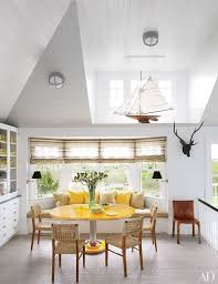 breakfast room furniture ideas. Yellow And White Breakfast Nook In Southampton Beach House Room Furniture Ideas
