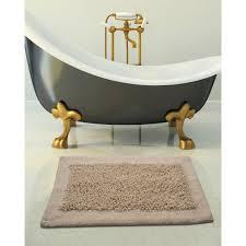 saffron fabs bath rug cotton and chenille size 34x21 inches latex spray non