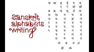 Sanskrit Varnamala Chart With Pictures Pdf Sanskrit Alphabet Writing