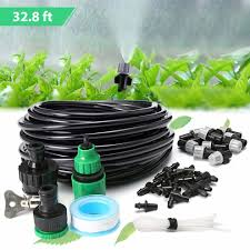 king do way micro flow drip watering irrigation adjustable misting kits system self plant garden hose automatic watering kits 10m on on