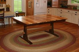 farmhouse table with leaves. Custom Made Expanding Farmhouse Table, Trestle Table With Leaves, Solid Wood, Leaves L