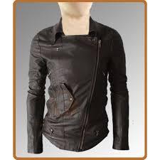 slim fit multi pocket rider dark brown jacket leather jacket for men s