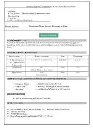 Simple Resume Format Download In Ms Word 2007 Gentileforda Com