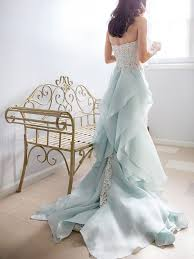Light Blue Wedding Dress With Sleeves 20 Dreamy Blue Wedding Gowns