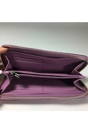 coach accordion zip wallet in polished pebble leather coach f16612 violet