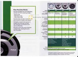 Roomba Comparison Chart John Ackerman Irobot Roomba How It Works Comparison Chart