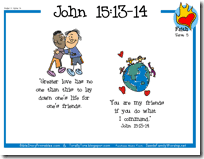 Christmas is fast approaching and kids would be very excited. Totally Tots In My Heart No Greater Love John 15 13 14