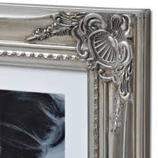 large antique silver ornate multi photo frame