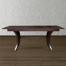 DISCONTINUED Contemporary Trestle Table by Bassett Furniture. A Classic  Java finish might work.