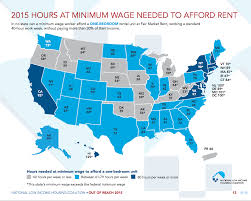 how many hours making minimum wage to rent an apartment business minimum wage housing map 2