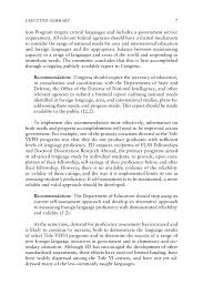 executive summary international education and foreign languages  page 7