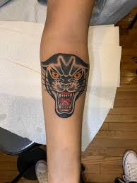 My First Tattoo A Panther From Hand Of Glory Tattoo Parlor In