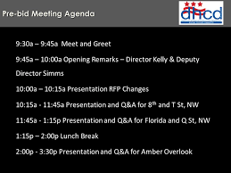 Meet And Greet Meeting Agenda Pre Bid Meeting Agenda 9 30a 9 45a Meet And Greet 9 45a