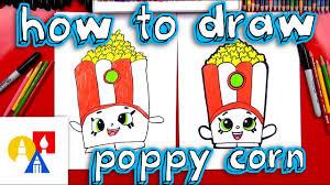Art For Kids How To Draw Poppy Corn Shopkins Youtube